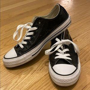 Converse All Star Sneakers - Black Glitter